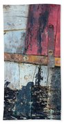 Wood And Metal Abstract Beach Towel by Jill Battaglia
