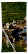 Wood Duck Rest Time Beach Towel
