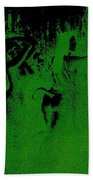 Wood Nymphs In Green Night Sight Beach Towel