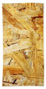 Wood Splinters Background Beach Towel