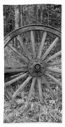 Wood Spoke Wheel Beach Towel