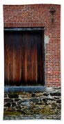 Wood Window Brick Wall Beach Towel