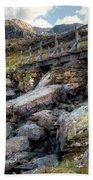 Wooden Bridge Beach Towel by Adrian Evans
