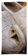 Wooden Clogs Beach Towel
