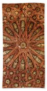 Wooden Coffered Ceiling In The Alhambra Beach Towel