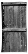 Wooden Door And Stone Wall 1 Beach Towel