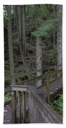Wooden Forest Trail  Beach Towel