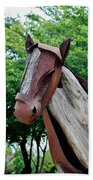 Wooden Horse20 Beach Towel