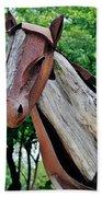 Wooden Horse21 Beach Towel