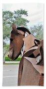 Wooden Horse26 Beach Towel