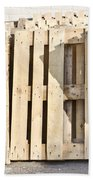 Wooden Pallets Beach Towel by Tom Gowanlock