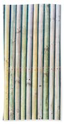 Wooden Poles Beach Towel