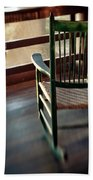 Wooden Rocking Chairs On A Deck Beach Towel