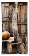 Wooden Shack Beach Towel by Carlos Caetano