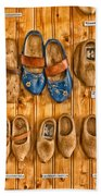 Wooden Shoes Beach Towel
