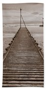 Wooden Slipway Rhos On Sea Beach Towel