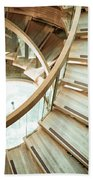Wooden Staircase Beach Towel
