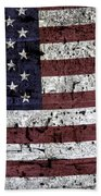 Wooden Textured U. S. A. Flag Beach Towel