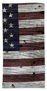 Wooden Textured Usa Flag3 Beach Towel