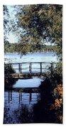 Woodfoot Bridge Of Williams Bay Wi Over Geneva Lake  Beach Towel