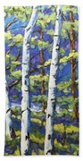 Woodland Birches Beach Towel