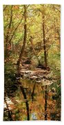 Woodland Brook  Beach Towel