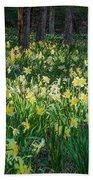 Woodland Daffodils Beach Towel by Bill Wakeley