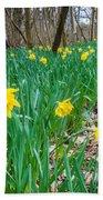 Woodland Daffodils Beach Towel