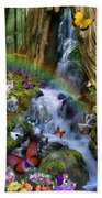 Woodland Forest Fairyland Beach Towel by Alixandra Mullins