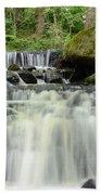 Woodland Waterfall Beach Towel