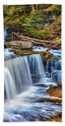 Wateralls In The Woods Beach Towel