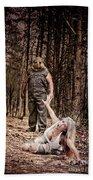 Woods Of Terror Beach Towel