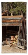 Woodshed On The Holzwarth Historic Site Beach Towel