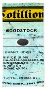Woodstock Side 4 Beach Towel