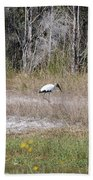 Woodstork Beach Towel