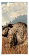 Woolly Rhino And A Marmot Beach Towel
