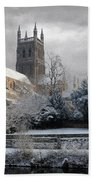 Worcester Cathedral Cloudy Beach Towel