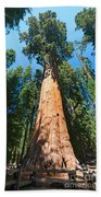 World Famous General Sherman Sequoia Tree In Sequoia National Park. Beach Towel