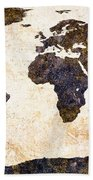 World Map Abstract Beach Towel by Bob Orsillo