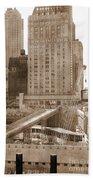 World Trade Center Reconstruction Vintage Beach Towel