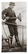 World War I Air Raid Siren Beach Towel