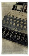 World War II Enigma Secret Code Machine Beach Towel
