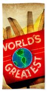 World's Greatest Fries Beach Towel