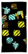 Wrapped Chocolates Beach Towel