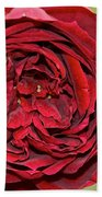 Wrapped Red Beach Towel