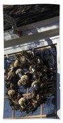 Wreath At Chownings Tavern Beach Towel