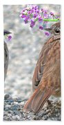 Wren Bird Sweethearts Beach Towel