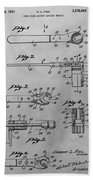 Wrench Patent Drawing Beach Towel