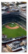 Wrigley Field Chicago Sports 02 Beach Towel by Thomas Woolworth