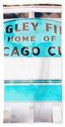 Wrigley Field Sign - X-ray Beach Towel